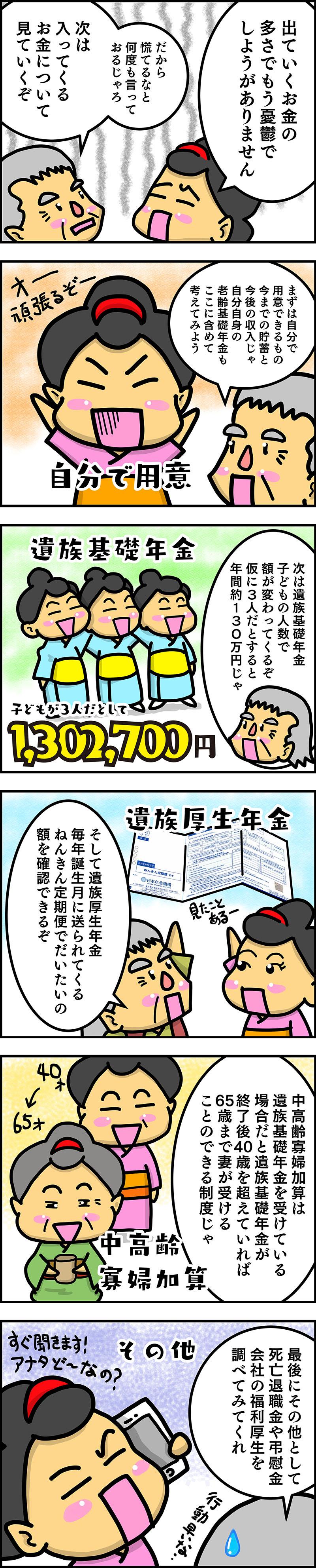 入ってくるお金6コマ漫画
